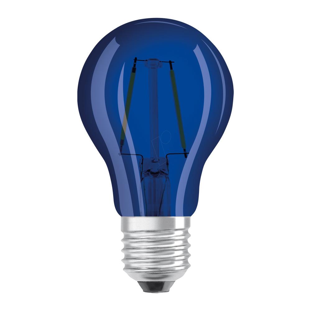 LED-lamp E27 Peer 2 W = 15 W Blauw (Ã x l) 55 mm x 105 mm Energielabel: A+ OSRAM Filament-Retro-LED