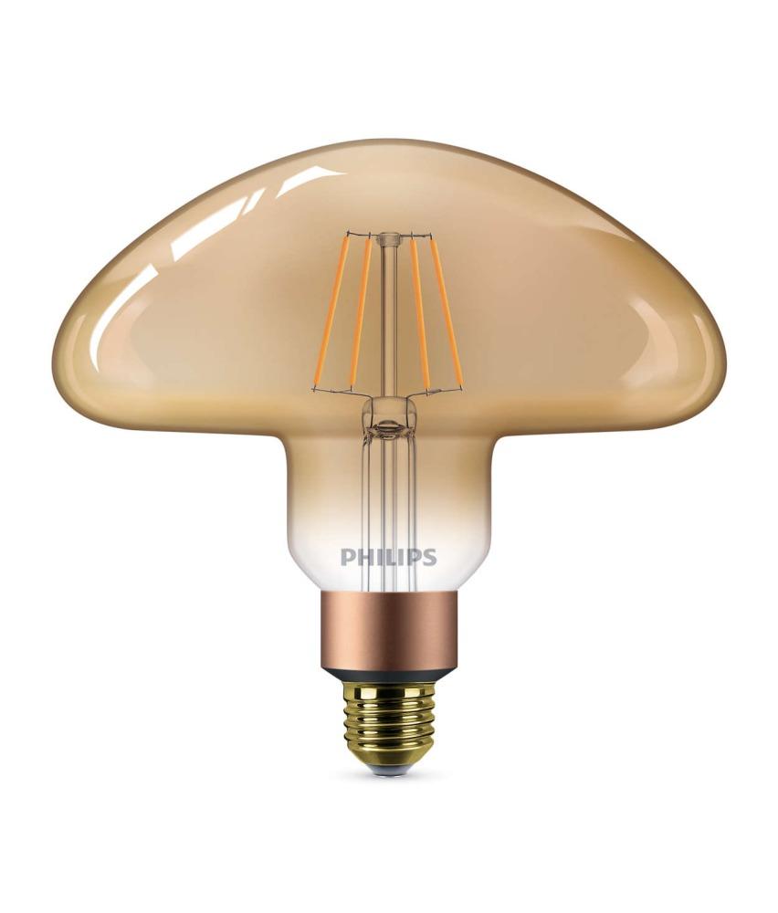 Philips Classic LEDbulb Vintage E27 Mushroom 5W 820 Goud   Extra Warm Wit - Dimbaar - Vervangt 30W
