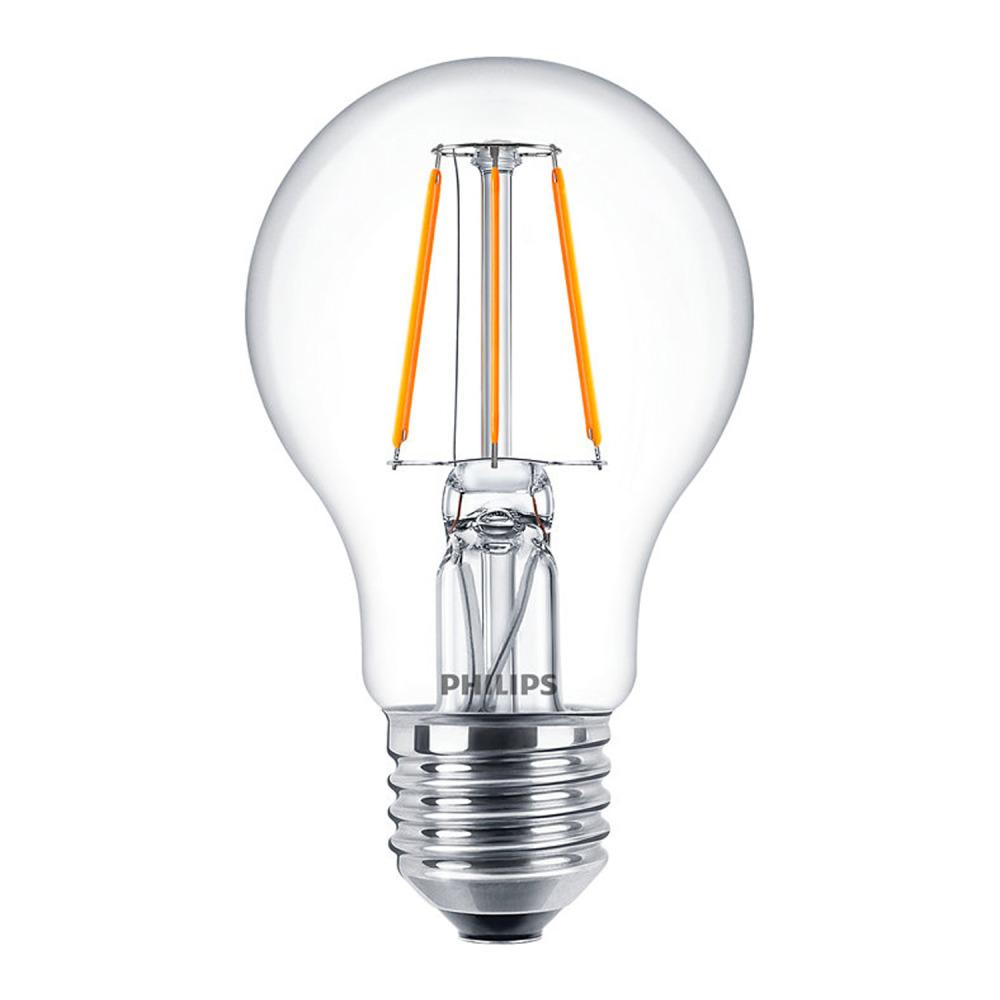 Philips Classic LEDbulb E27 A60 4.3W 827 Helder   Zeer Warm Wit - Vervangt 40W