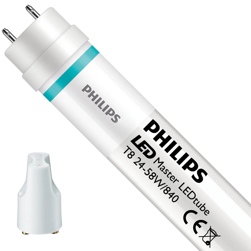 Philips LEDtube T8 MASTER (EM/Mains) Ultra output 24W - 840 Koel Wit   150cm Vervangt 58W