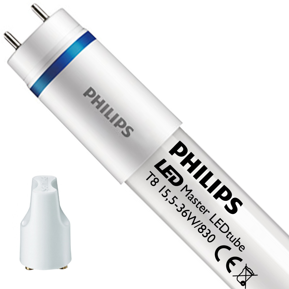 Philips LEDtube T8 MASTER (EM/Mains) Ultra output 15.5W - 830 Warm Wit   120cm Vervangt 36W