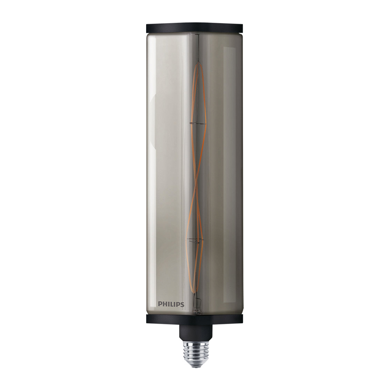 Philips LED Crystal Giant E27 6.5W 827 Smoky   Zeer Warm Wit - Dimbaar - Vervangt 35W