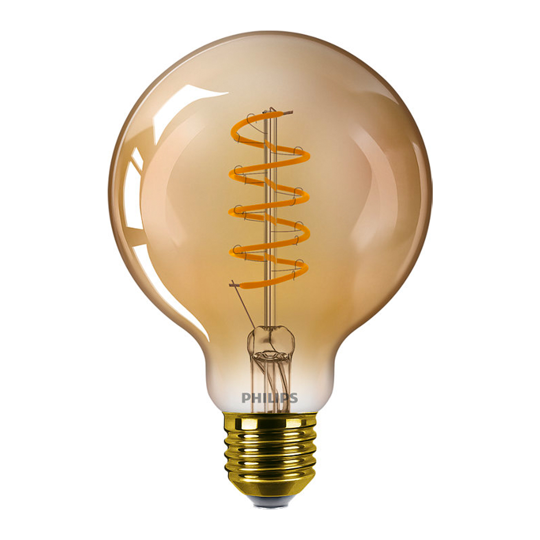 Philips Classic LEDglobe E27 G93 5.5W 820 Goud   Dimbaar - Vervangt 25W