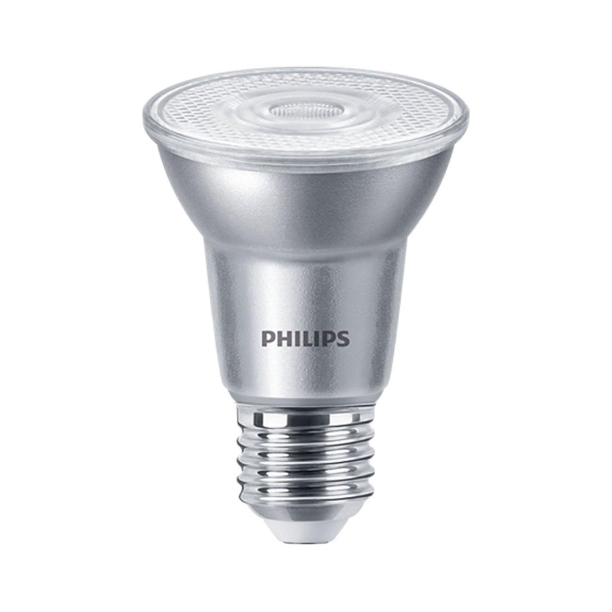 Philips LEDspot E27 PAR20 6W 830 25D 515lm (MASTER)   Dimbaar - Warm Wit - Vervangt 50W