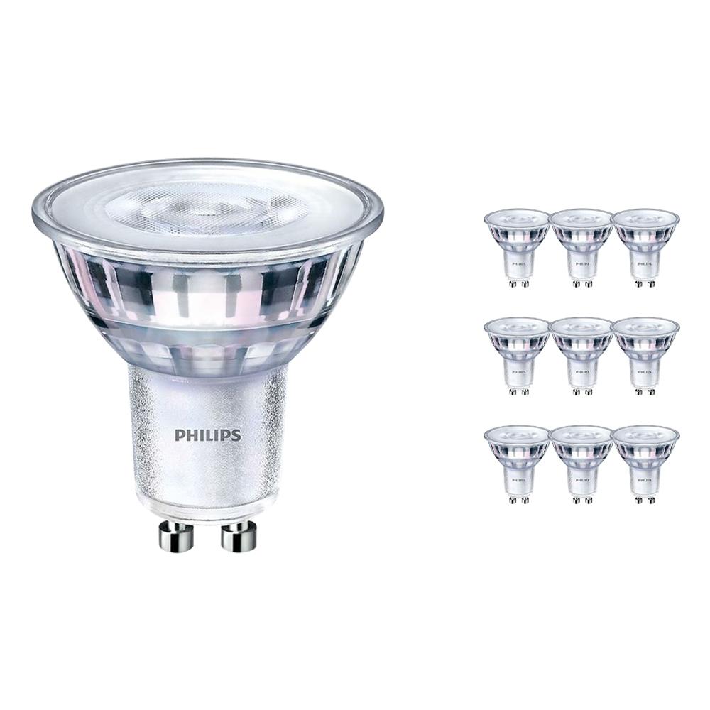 Voordeelpak 10x Philips CorePro LEDspot MV GU10 2.7W 830 36D   Warm Wit - Vervangt 25W