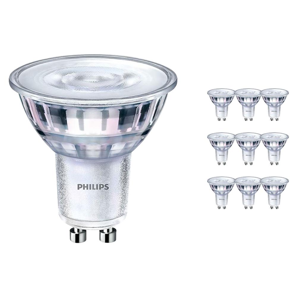 Voordeelpak 10x Philips CorePro LEDspot MV GU10 5W 840 36D   Koel Wit - Dimbaar - Vervangt 50W