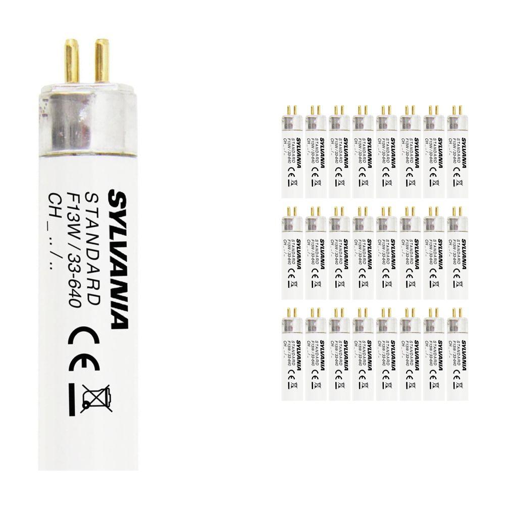 Voordeelpak 25x Sylvania T5 F13W/33-740 G5 Luxline Standaard Koel Wit