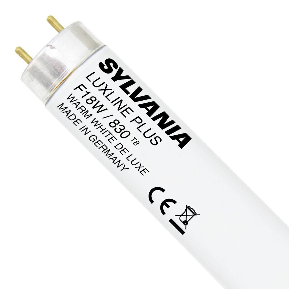 Sylvania T8 Luxline Plus F18W 830 | 60cm - Warm Wit