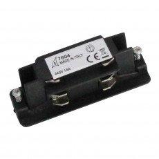 3 Fase Rechte Connector Electrisch - Zwart
