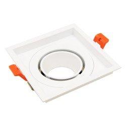 Ring 110mm voor LED Spot - Wit - Vierkant Kantelbaar
