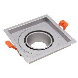 Ring 110mm voor LED Spot - Geborsteld Aluminium - Vierkant Kantelbaar
