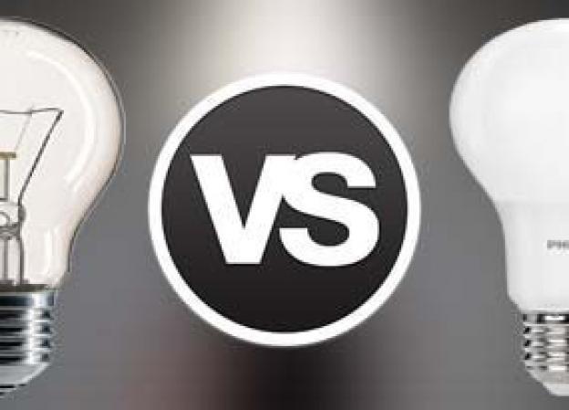 Wat zijn de verschillen tussen een gloeilamp en een LED lamp?