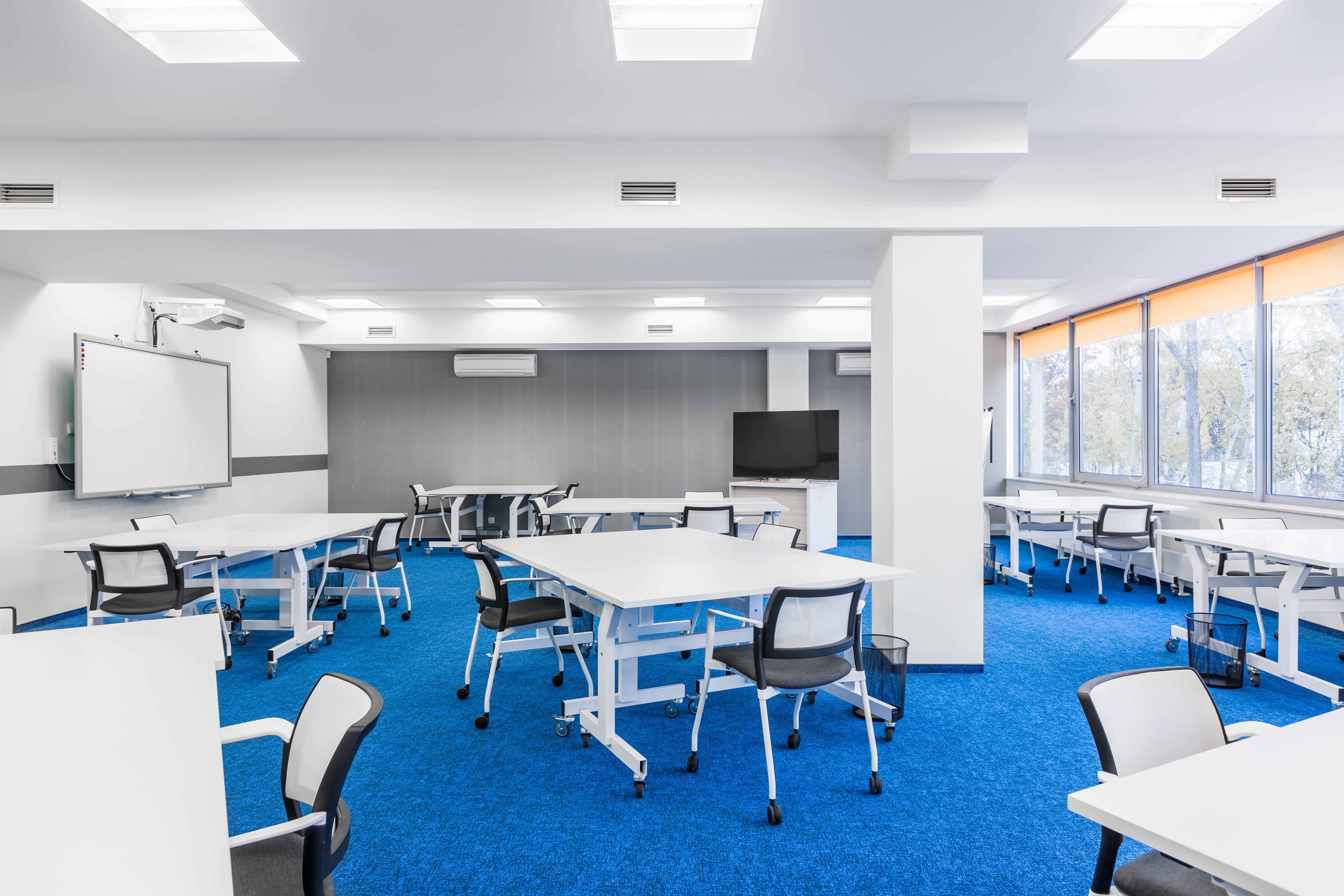 LED panelen klaslokaal